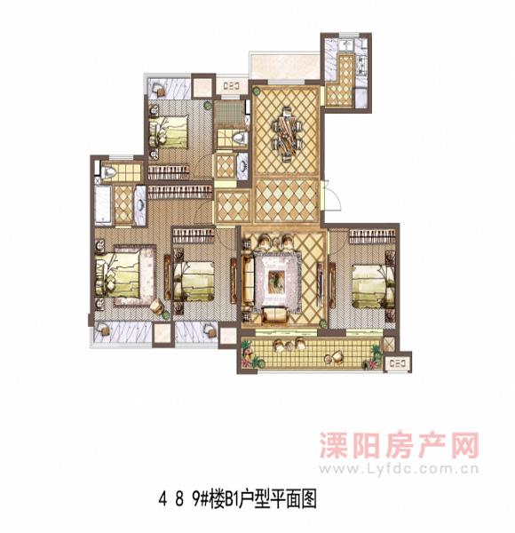 4 8 9#楼B1户型平面图