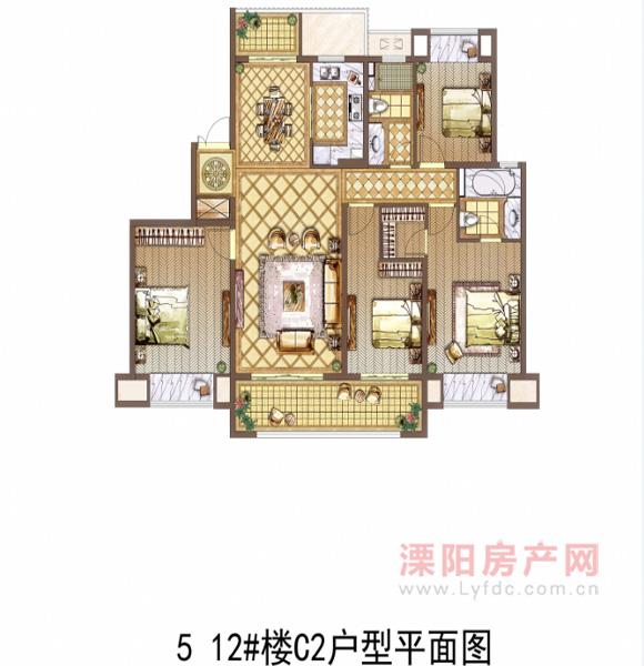 5 12#楼C2户型平面图