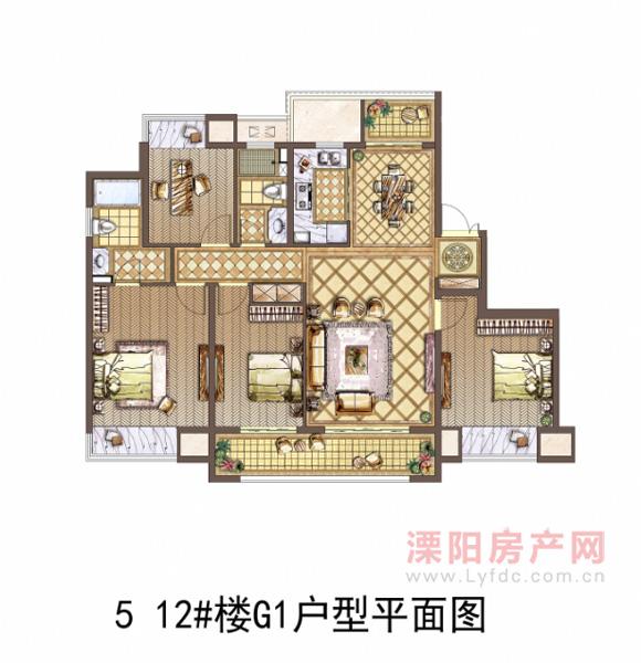 5 12#楼G1户型平面图