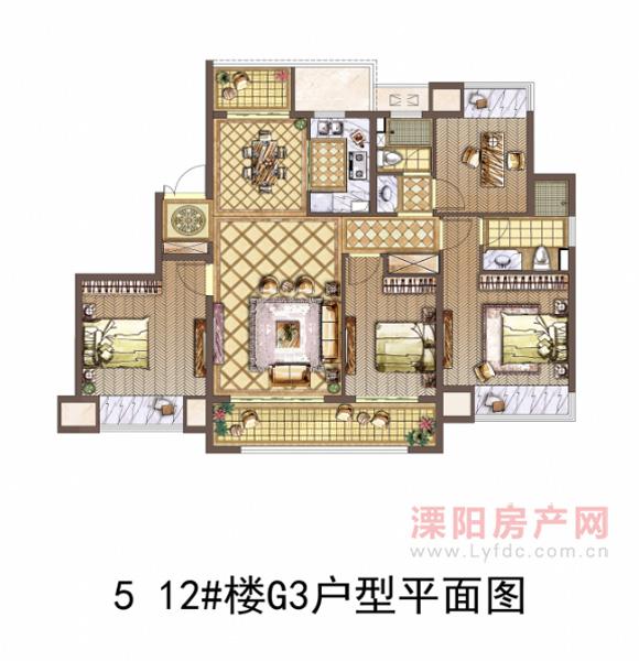 5 12#楼G3户型平面图